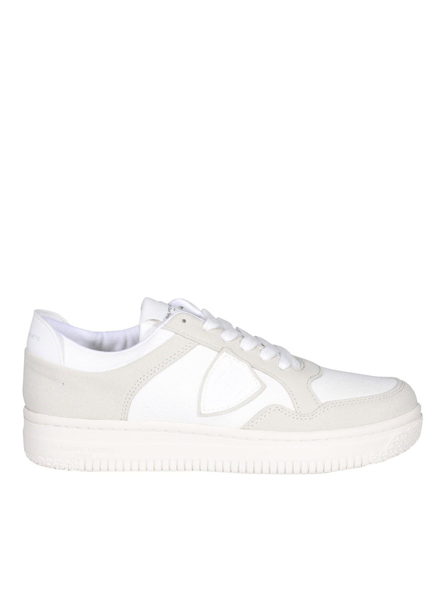 Philippe Model LYON SNEAKERS IN WHITE AND BEIGE