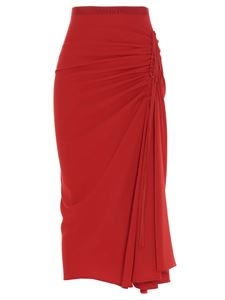 N° 21 - Drawstring pencil skirt in red