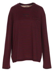 N° 21 - Logo striped t-shirt in red and black