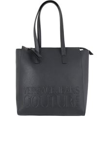 Versace Jeans Couture - Branded shopper bag in black