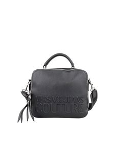 Versace Jeans Couture - Saffiano faux leather camera bag in black