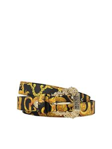 Versace Jeans Couture - Saffiano leather baroque belt in black