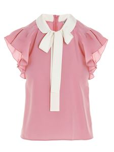 Red Valentino - Bow top in pink