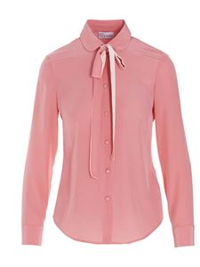 Red Valentino - Shirt with bow on the neck pink