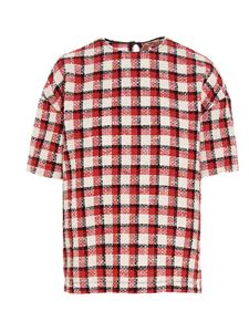 N° 21 - Checked tweed T-shirt in red