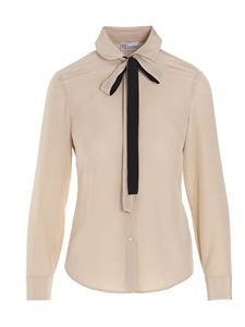 Red Valentino - Bow shirt in beige