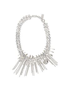 N° 21 - Crystals and safety pins necklace in silver
