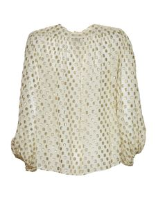 L'Autre Chose - Polka dot shirt in white and gold