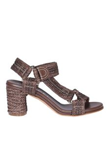 Casadei - Woven leather sandals in brown