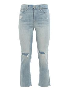 7 For All Mankind - The Straight Crop trousers in light blue