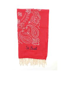 MC2 Saint Barth - Bandana beach towel in red