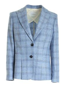 Ballantyne - Checked jacket in light blue