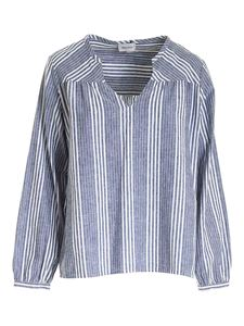 Woolrich - Long sleeves blouse in blue and white