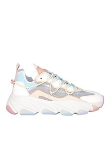 Ash - Lace-up leather sneakers in multicolor