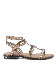 Ash - Precious leather sandals in brown