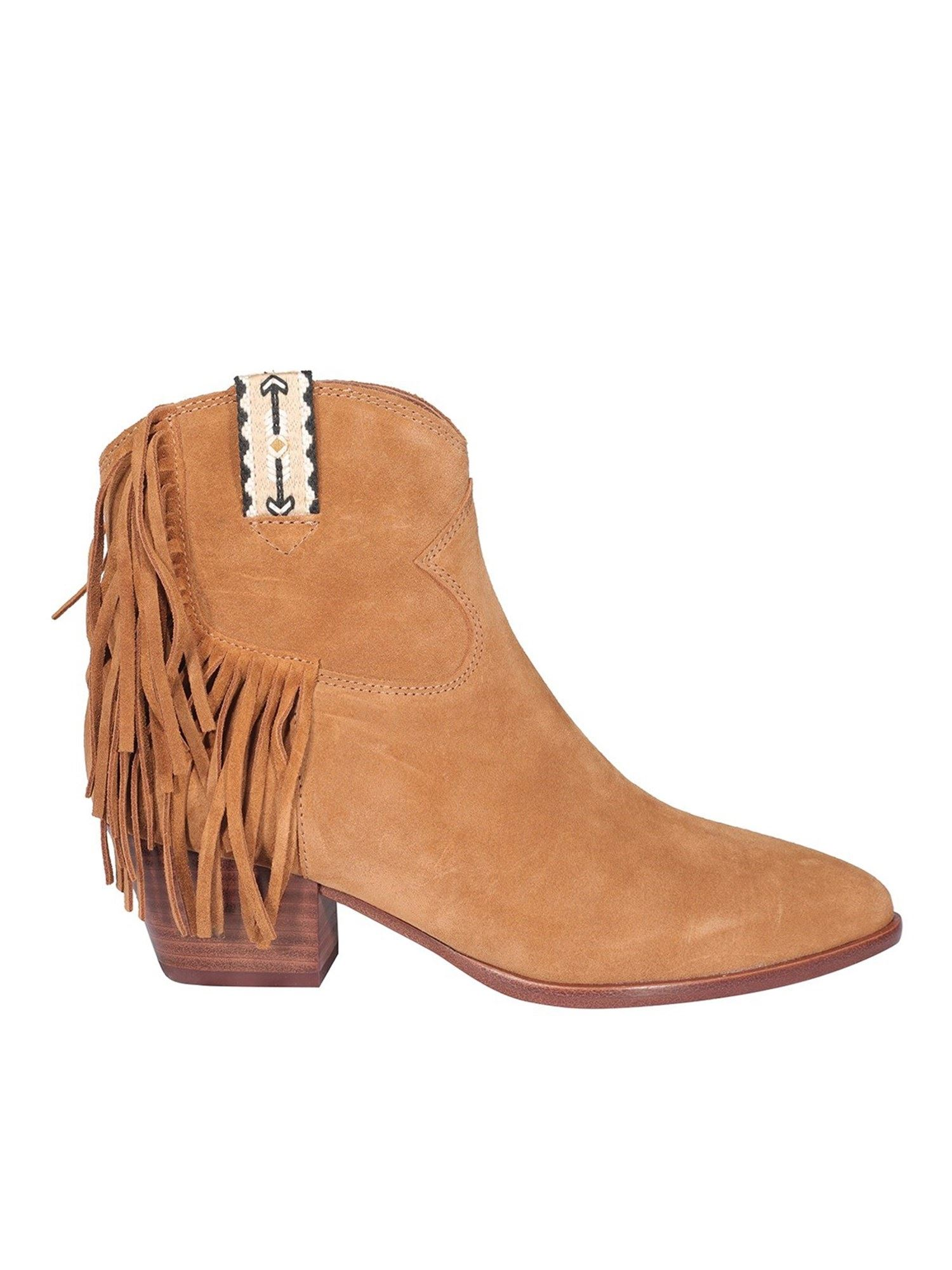 Ash HYSTERIA SUEDE ANKLE BOOTS IN BROWN