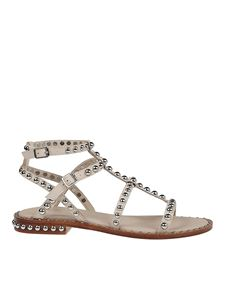 Ash - Precious embellished sandals in cream color