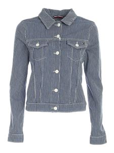 Tommy Hilfiger - Striped denim jacket in blue and white