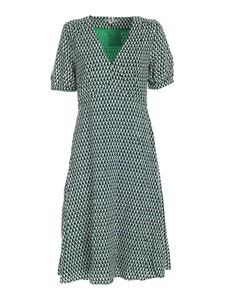 Tommy Hilfiger - Geometric dress in black white and green