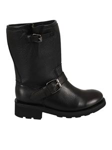Ash - Toxic leather boots in black