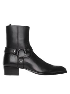 Saint Laurent - Wyatt ankle boots in black