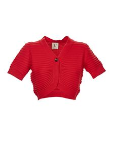 L'Autre Chose - Short sleeves cardigan in red