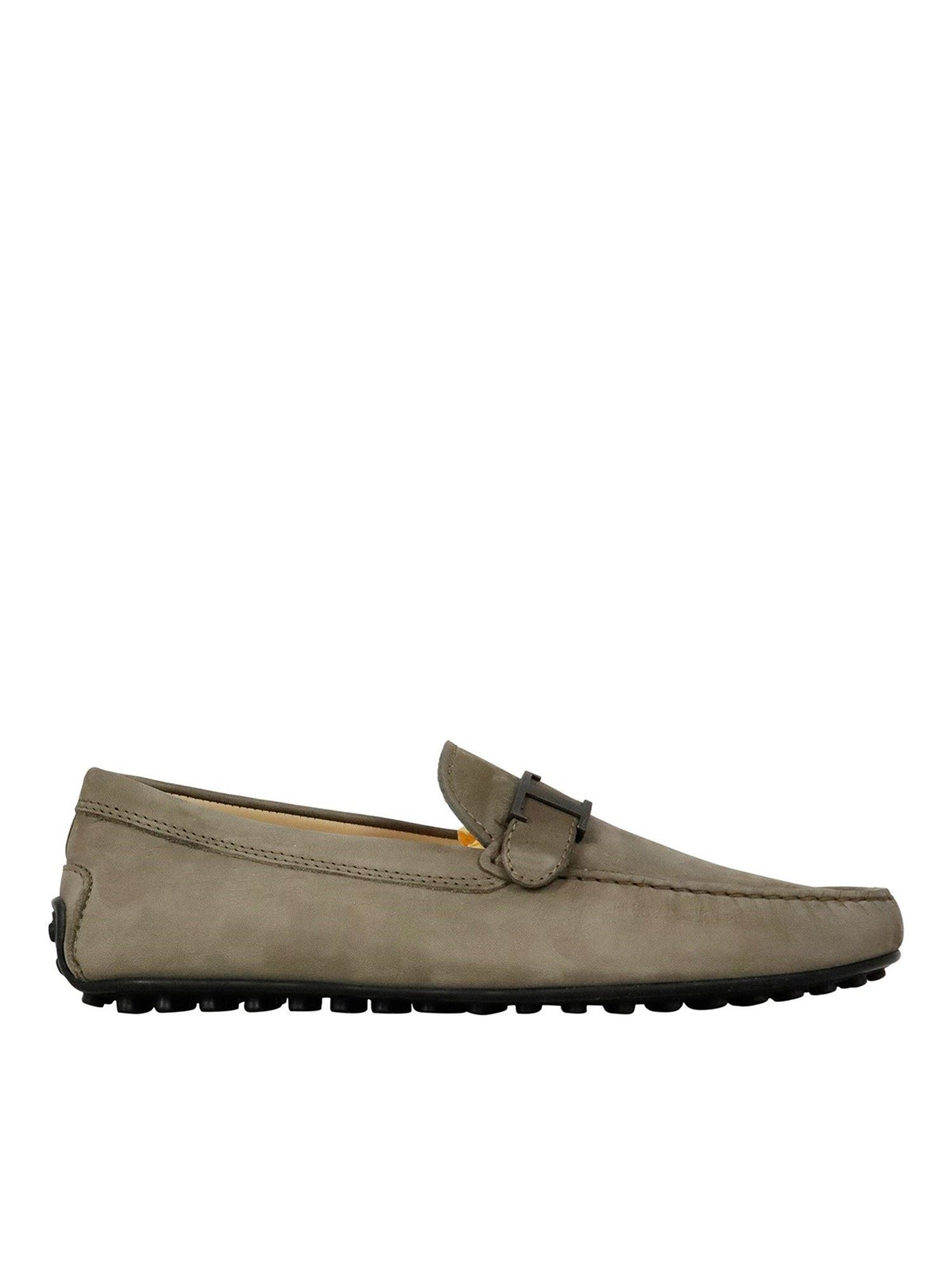 Tod's Flats CITY LOAFERS IN GREY