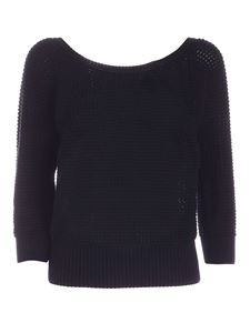 Les Copains - Drilled sweater in blue