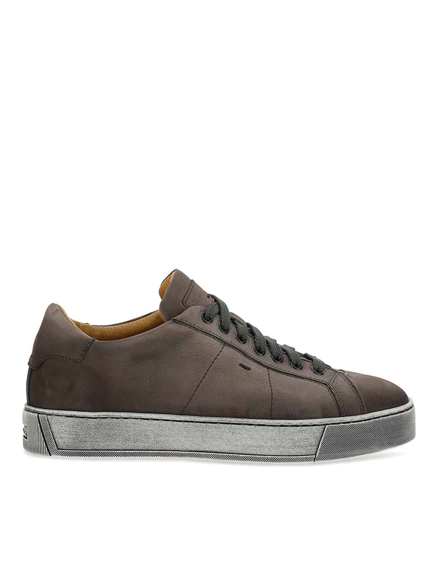 Santoni VINTAGE EFFECT SNEAKERS IN GREY