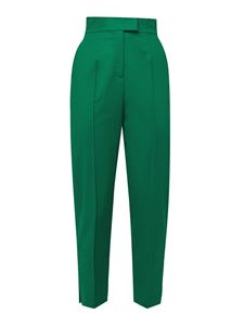 Genny - High waisted pants in green