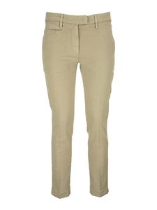 Dondup - Perfect linen blend trousers in beige