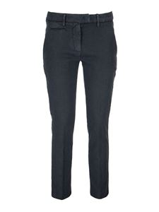 Dondup - Perfect linen blend trousers in blue