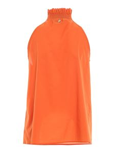 Dondup - Cotton top in orange color