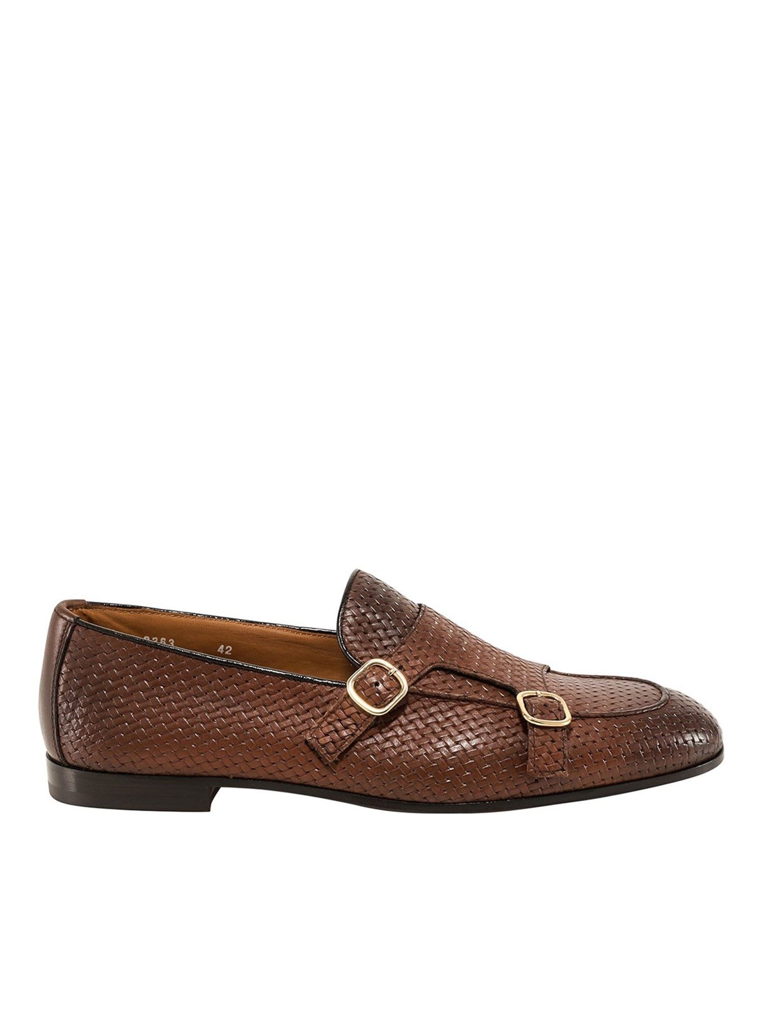 Doucal's Loafers WOVEN NAPPA LOAFERS IN BROWN