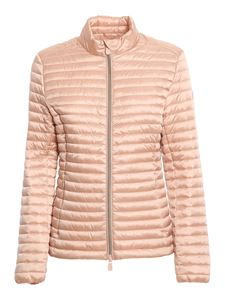 Save the duck - Andreina silky effect nylon puffer jacket in pink