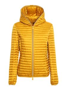 Save the duck - Alexis hooded puffer jacket in yellow