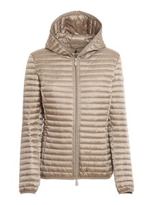 Save the duck - Alexis quilted puffer jacket in light grey