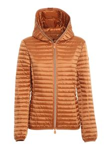 Save the duck - Alexis hooded puffer jacket in orange