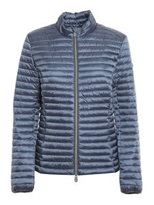 Save the duck - Andreina silky effect nylon puffer jacket in blue