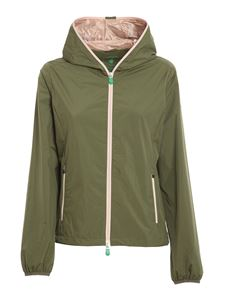 Save the duck - Stella recycled polyester puffer jacket in green and pink