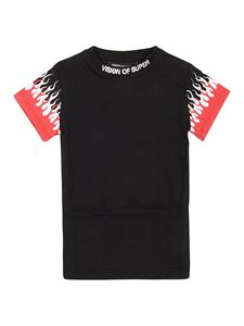 Vision Of Super - Flame print T-shirt in black