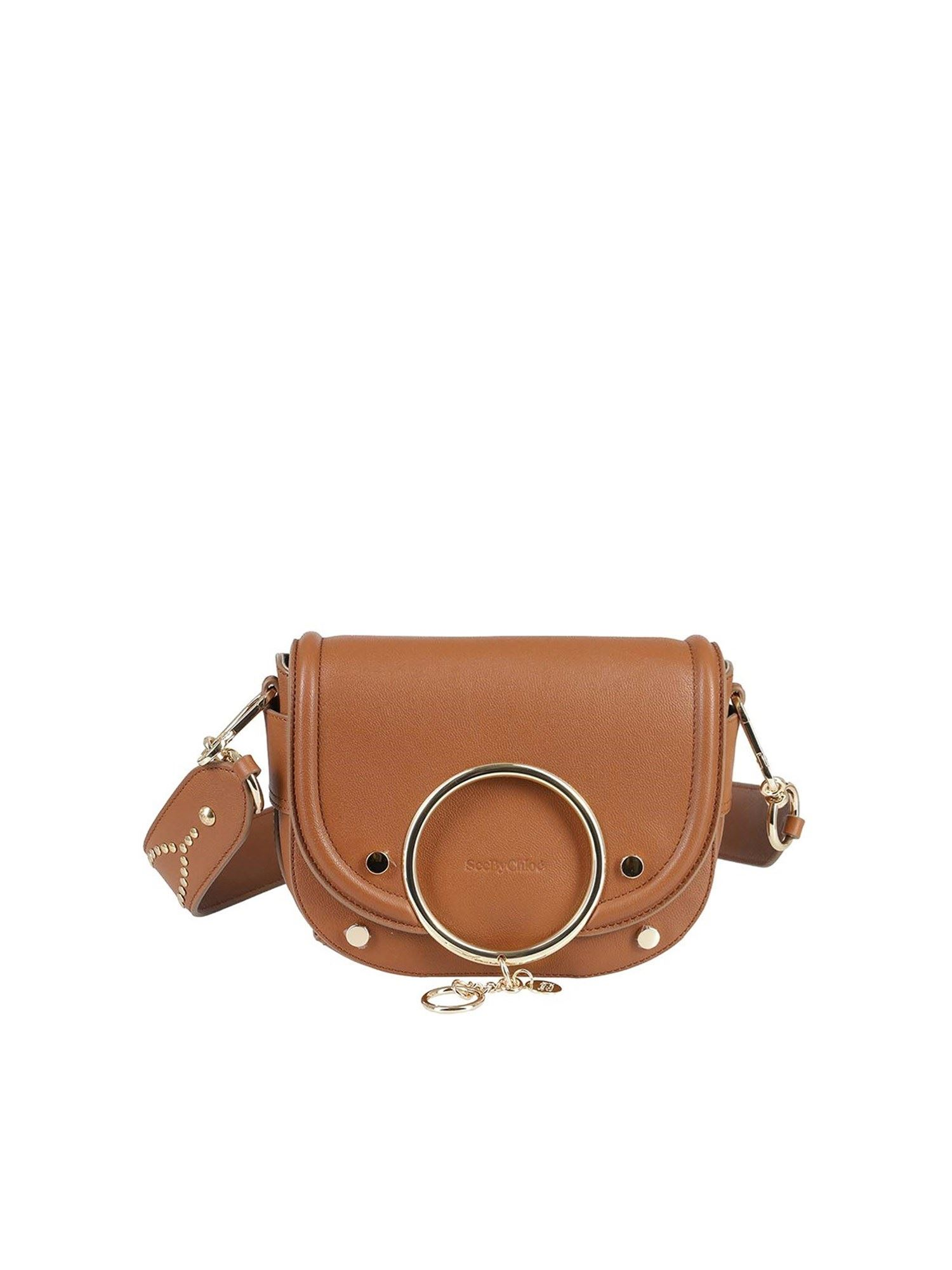 See By Chloé Leathers MARA CROSSBODY BAG IN CAMEL