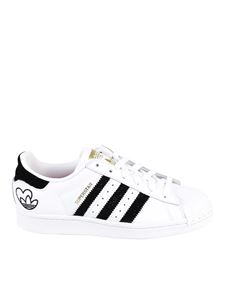 Adidas Originals - Superstar leather sneakers in white