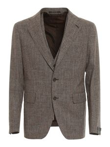 Tagliatore - Prince of Wales patterned suit in grey