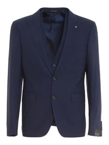 Tagliatore - Stretch wool suit in blue