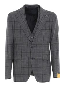 Tagliatore - Prince of Wales patterned suit in blue