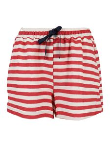Semicouture - Evelyne shorts in red and white