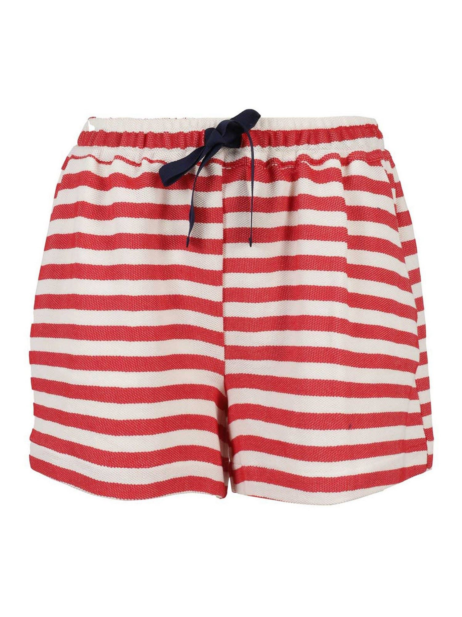 Semicouture EVELYNE SHORTS IN RED AND WHITE
