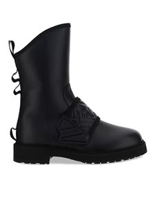 Fendi - Smooth leather biker boots in black