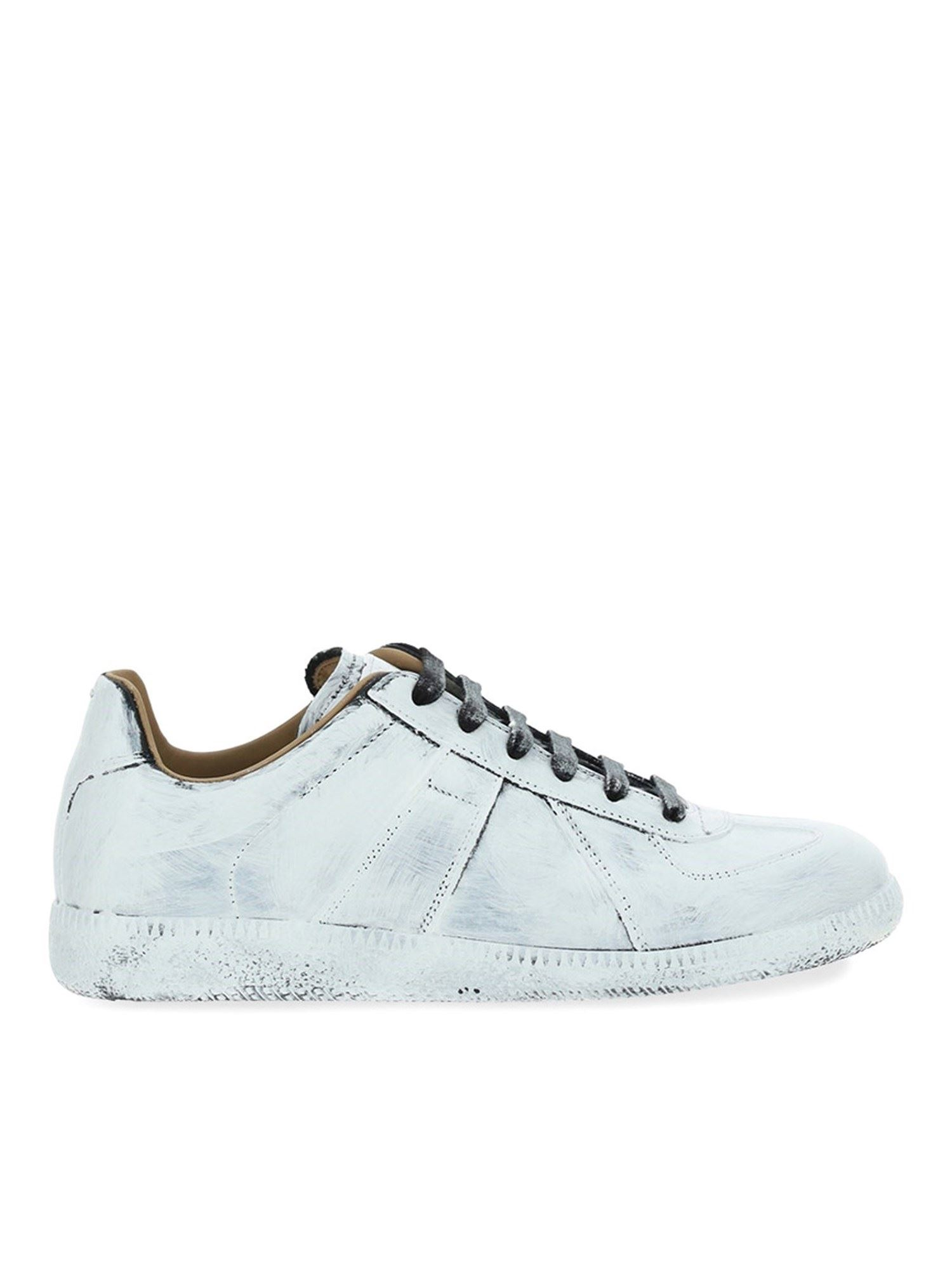 Maison Margiela Low tops PAINTED EFFECT SNEAKERS IN WHITE